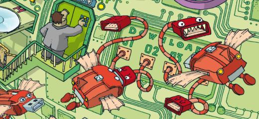 Kleine Monster im großen Internet, erschaffen von Stefan Eling.